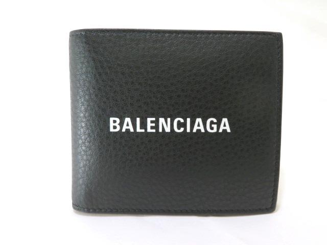 【送料無料】BALENCIAGA バレンシアガ サイフ・小物 財布 二つ折り財布 レザー KS【472】【中古】【大黒屋】