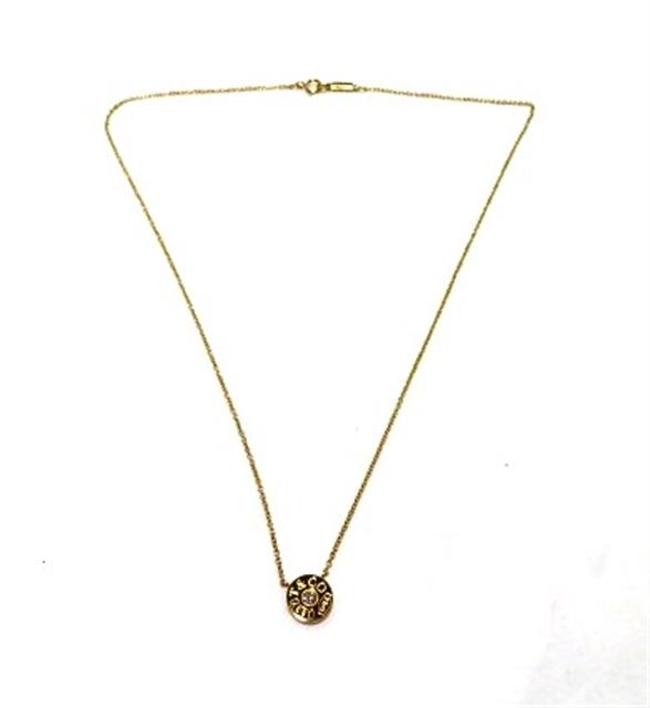 【送料無料】TIFFANY&CO 貴金属・宝石 ネックレス 1837サークル ネックレス イエローゴールド 1PD 重量約2.4g【433】【中古】【大黒屋】