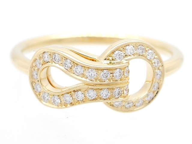【送料無料】Cartier カルティエ 貴金属・宝石 アグラフリング ダイヤリング YG イエローゴールド 2.4g 48号 日本サイズ8号 【432】【中古】【大黒屋】