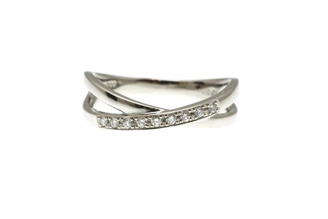 【送料無料】ノンブランドジュエリー リング 指輪 プラチナ ダイヤモンド 10号 約3.4g 【472】【中古】【大黒屋】