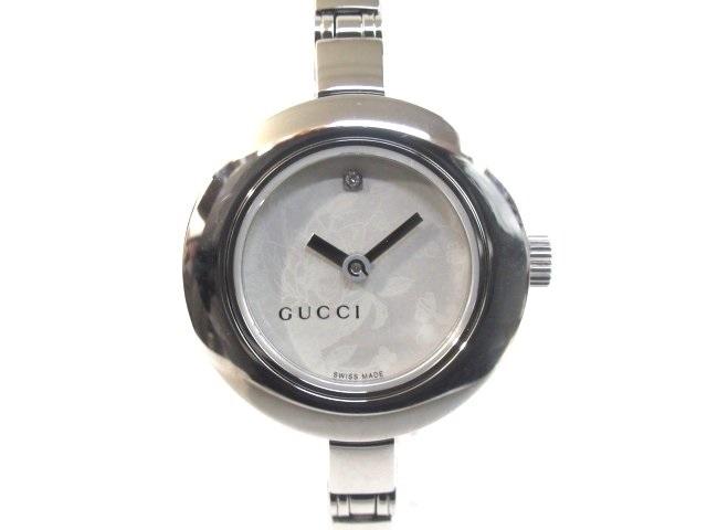 GUCCI グッチ レディース腕時計 ホワイト文字盤 SS ステンレス 105【413】【中古】【大黒屋】