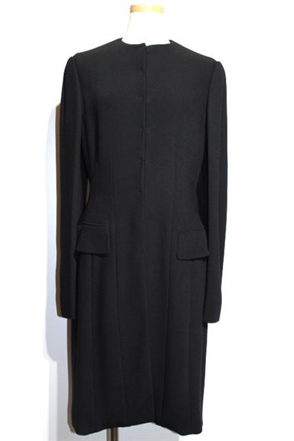 【送料無料】Dior ディオール アウター コート レディース40 ブラック レーヨン アセテート【432】【中古】【大黒屋】
