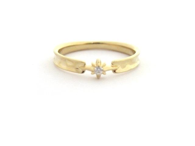 【送料無料】STAR JEWELRY スタージュエリー 貴金属・宝石 リング K18 D イエローゴールド ダイヤモンド #8【460】【中古】【大黒屋】