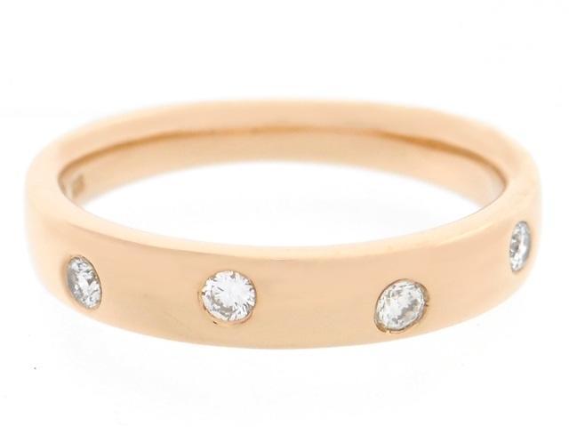 4℃ ヨンドシー 貴金属・宝石 リング 指輪 ピンクゴールド K18PG ダイヤ 4PD 4.0g 10号 【200】【中古】【大黒屋】