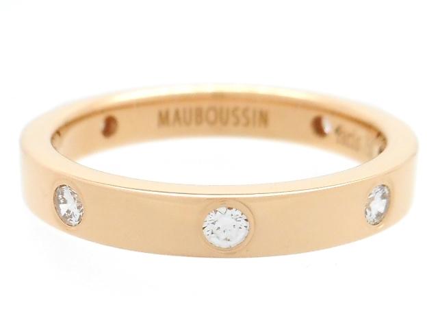 MAUBOUSSIN モーブッサン 貴金属・宝石 リング 指輪 ピンクゴールド K18PG ダイヤ D 3.7g 9号 【200】【中古】【大黒屋】