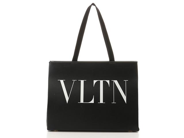【送料無料】VALENTINO バレンチノ VLTNライン ショッピングバッグ QW2B0C52RCH カーフ ブラック【460】【中古】【大黒屋】