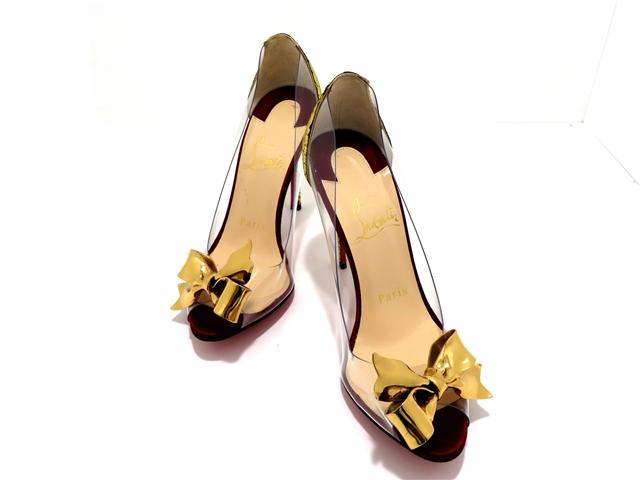 Christian Louboutin クリスチャン・ルブタン 靴  パンプス 35 ゴールド PVC 【437】【中古】【大黒屋】