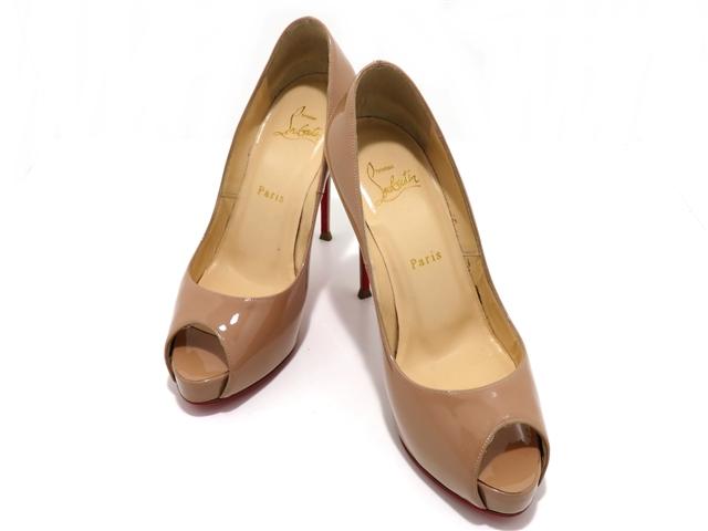 Christian Louboutin クリスチャン・ルブタン 靴 パンプス 37 ベージュ パテント 【437】【中古】【大黒屋】
