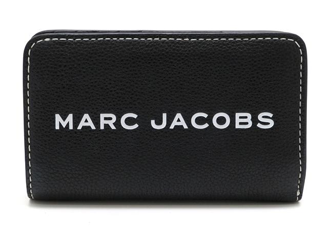 MARC JACOBS L字ファスナー財布 カーフ ブラック【430】【中古】【大黒屋】