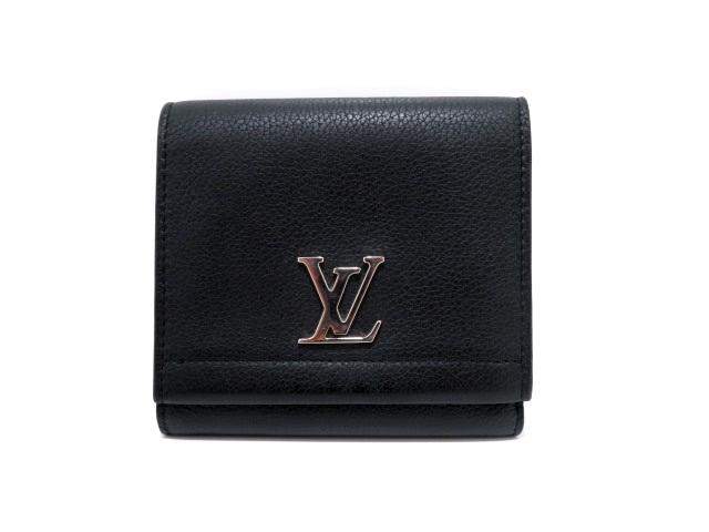 LOUIS VUITTON ルイ・ヴィトン ロックミー2 ノワール 二つ折り財布 トリヨンレザー M64309 【437】【中古】【大黒屋】