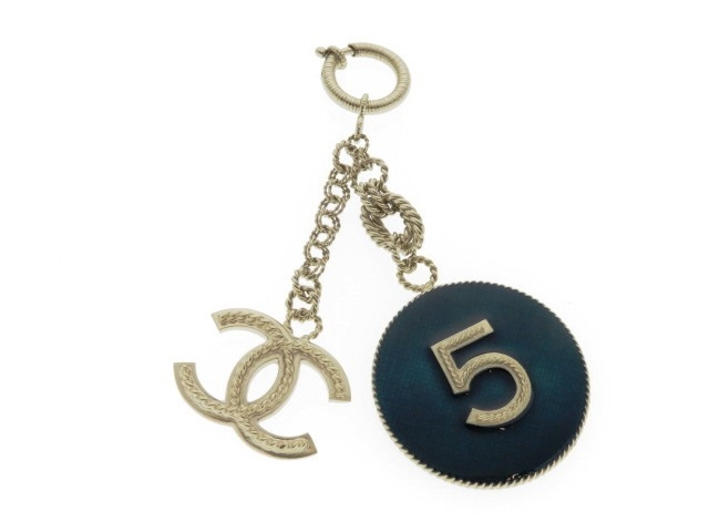 CHANEL シャネル ナンバー 5 キーホルダー ゴールド 箱付き 2013年【430】【中古】【大黒屋】