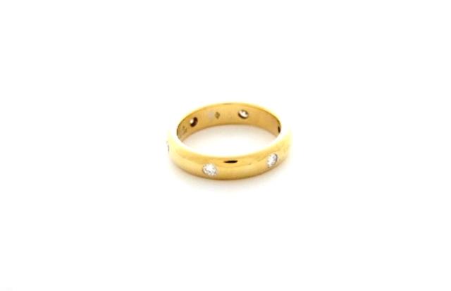 【送料無料】Cartier カルティエ 貴金属・宝石 リング ステラリング K18YG イエローゴールド 6ポイントダイヤ #49 【472】【中古】【大黒屋】