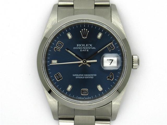 【送料無料】ROLEX ロレックス 時計 パーペチュアルデイト 15200 ブルー SS オートマチック Y番台 100m防水 メンズ 【472】【】【大黒屋】