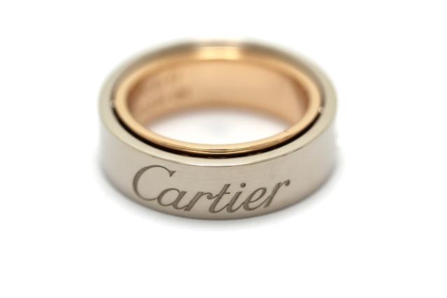 【送料無料】Cartier カルティエ シークレットラブ リング 指輪 2005年クリスマス限定 WG/PG 47号 【460】【中古】【大黒屋】