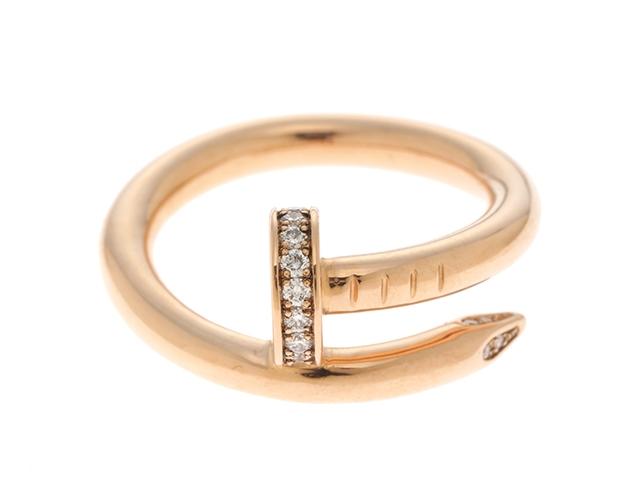 【送料無料】Cartier カルティエ ジュストアンクル ピンクゴールド ダイヤモンド リング PG D 7.4g 50号 箱・ギャラ付き【431】【中古】【大黒屋】