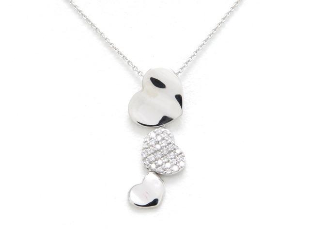 JEWELRY ノーブランドジュエリー ネックレス K18 ホワイトゴールド ダイヤモンド 【474】【中古】【大黒屋】