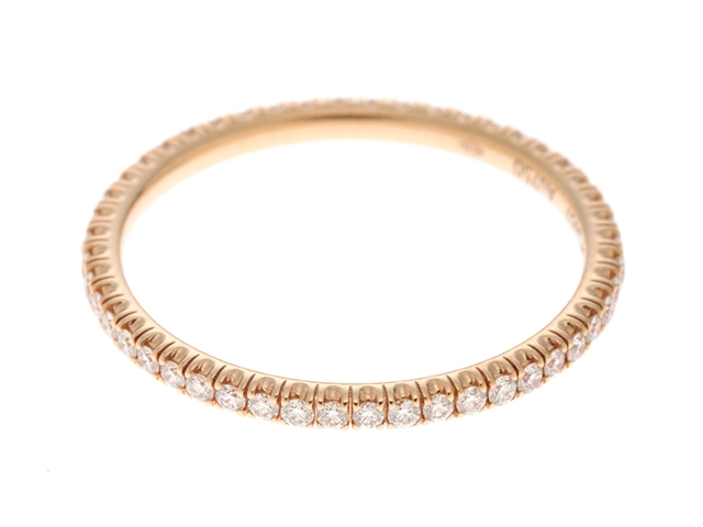 【送料無料】Cartier カルティエ エタンセルドゥ ウェディング ピンクゴールド ダイヤモンド リング PG D 1.2g 51号 箱付き【430】【中古】【大黒屋】
