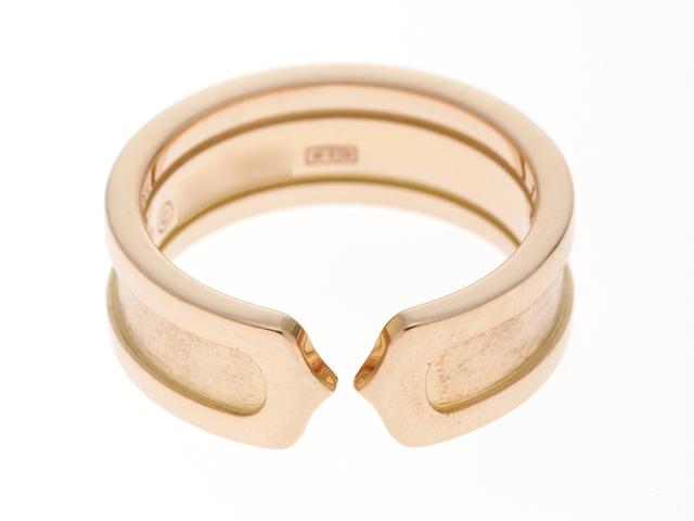 【送料無料】Cartier カルティエ C2 リング PG ピンクゴールド 6.9g #50 日本サイズ10号 【436】【中古】【大黒屋】