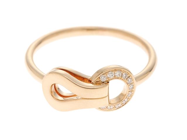 【送料無料】Cartier カルティエ アグラフリング PG D ピンクゴールド ダイヤモンド 2.4g 49号(日本サイズ9号) 【432】【中古】【大黒屋】