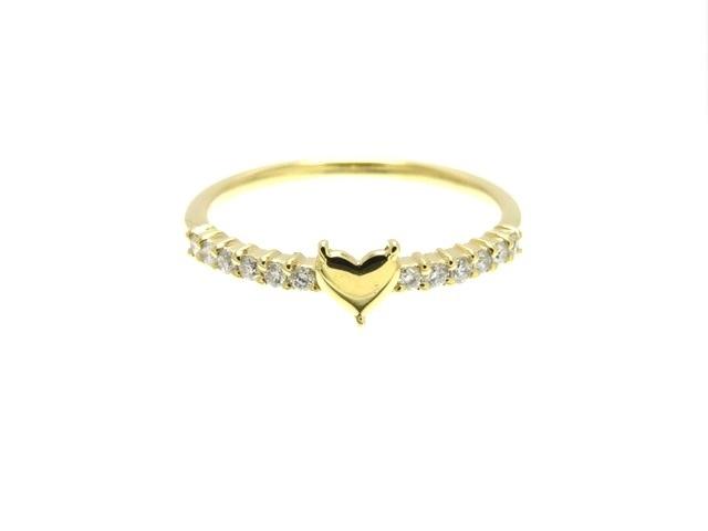 AHKAH アーカー リング 指輪 アペーゴリング K18 イエローゴールド ダイヤモンド 10号 【436】【中古】【大黒屋】