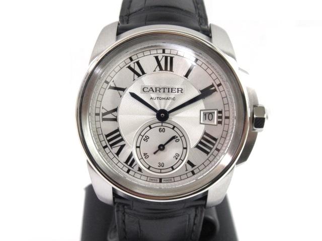 【送料無料】Cartier カルティエ 時計 オートマチック カリブル ドゥ カルティエ SS/革 WSCA0003【432】【中古】【大黒屋】
