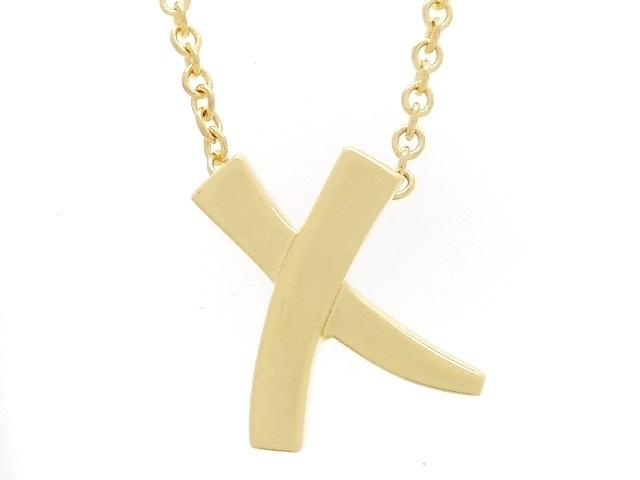 TIFFANY&CO ティファニー ネックレス パロマピカソ Xペンダント YG イエローゴールド 2.2g 【471】【中古】【大黒屋】