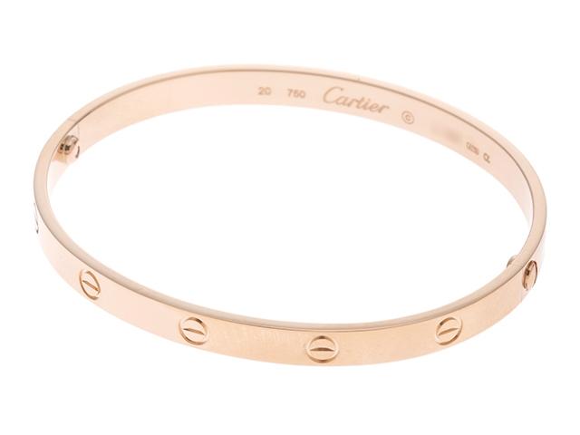 【送料無料】Cartier カルティエ ブレスレット LOVEブレスレット ラブブレス K18PG ピンクゴールド 20号 旧型 【472】【中古】【大黒屋】