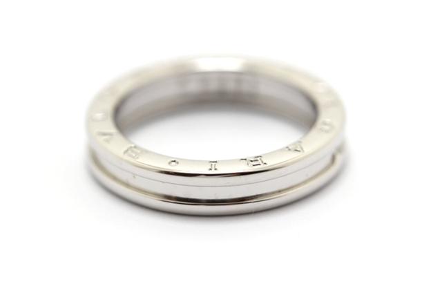 【送料無料】BVLGARI ブルガリ B-zero1 ビーゼロワン リング 指輪 XSサイズ WG 60号 【460】【中古】【大黒屋】