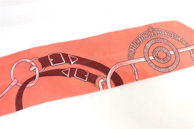 HERMES エルメス 衣料品 トゥイリー スカーフ ピンク【471】【中古】【大黒屋】