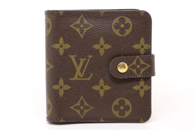 LOUIS VUITTON ルイヴィトン 二つ折り財布 コンパクト・ジップ モノグラム M61667【200】【中古】【大黒屋】