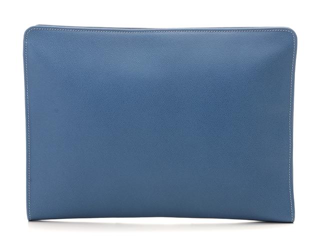 SELECTION バッグ クラッチバッグ セカンドバッグ ヴァレクストラ 型押し ブルー【437】【中古】【大黒屋】