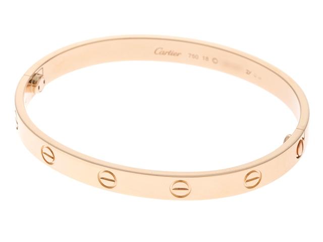 【送料無料】Cartier カルティエ 貴金属 ジュエリー ラブブレスレット B6035618 K18 ピンクゴールド 重量約33.5g 18号【413】【中古】【大黒屋】