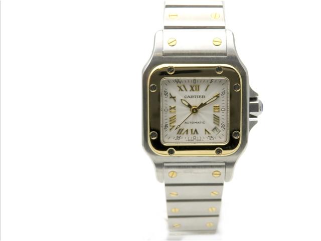 【送料無料】Cartier カルティエ 時計 オートマチック サントス ガルベSM W20045C4 YG/SS【437】【中古】【大黒屋】