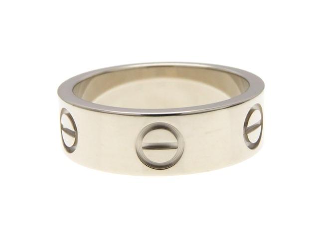 Cartier カルティエ ラブリング 指輪 K18WG ホワイトゴールド 50号 【474】【中古】【大黒屋】