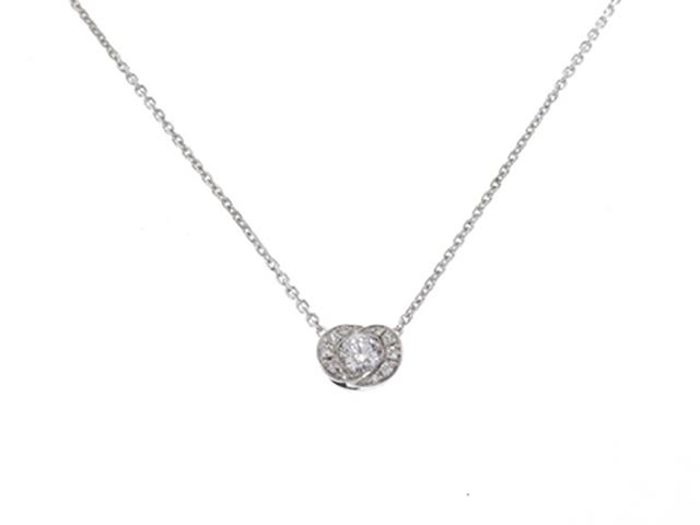 BVLGARI ブルガリ インコントロダモーレネックレス ダイヤモンド 3.6g【430】【中古】【大黒屋】