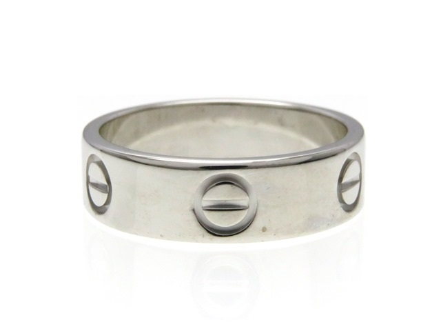 【送料無料】Cartier カルティエ ラブリング 指輪 K18WG ホワイトゴールド 53号 【413】【中古】【大黒屋】