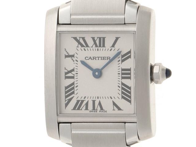 【送料無料】Cartier  カルティエ タンクフランセーズ SM W51008Q3 レディース クォーツ(電池式) SS 【430】【中古】【大黒屋】