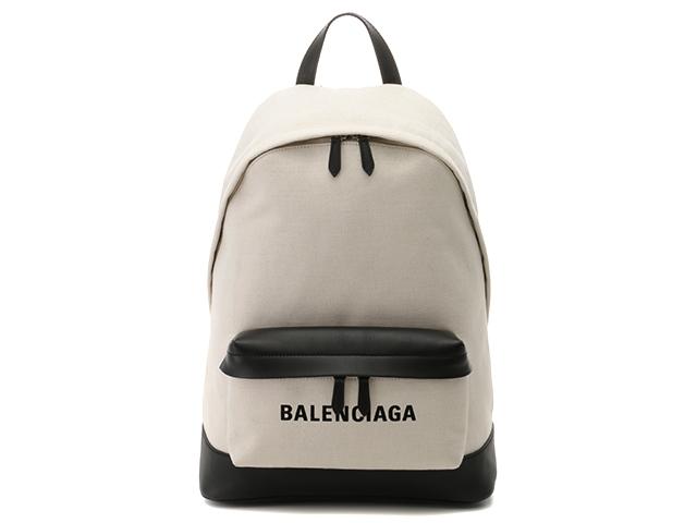 【送料無料】BALENCIAGA バレンシアガ バッグ リュックサック バックパック キャンバス/カーフ【430】【中古】【大黒屋】