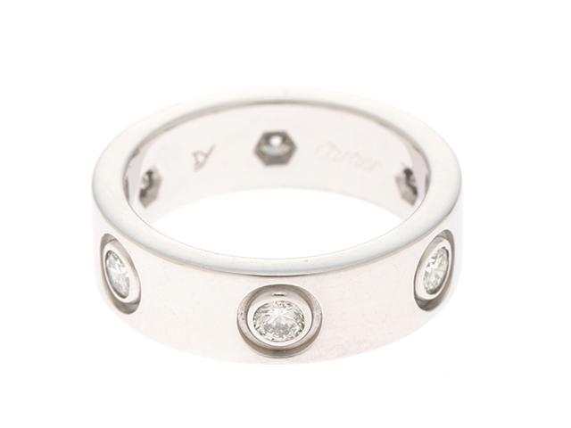 【送料無料】Cartier 貴金属・宝石 ラブリング リング ラブR オールダイヤ ホワイトゴールド ダイヤモンド WG/D #47 【433】【中古】【大黒屋】