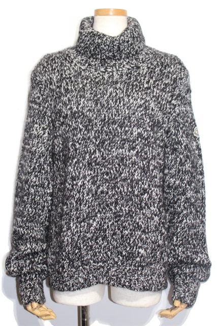 MONCLER モンクレール セーター レディースL アクリル ウール ホワイト グレー ブラック【200】【中古】【大黒屋】