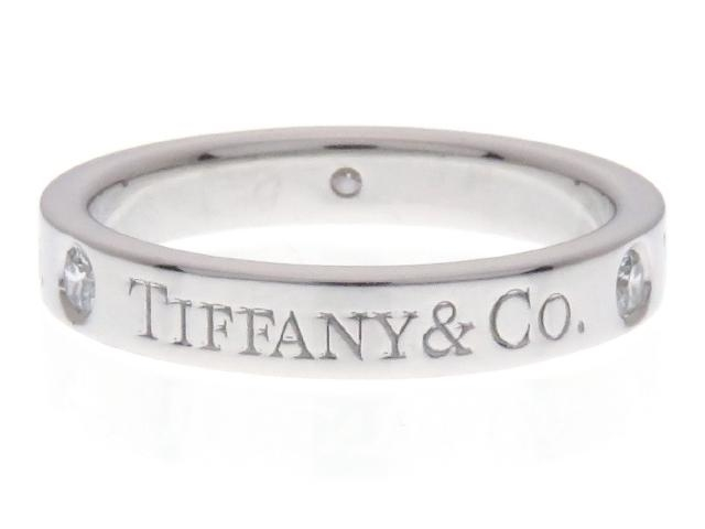 TIFFANY&CO ティファニー ダイヤモンド リング フラットバンドリング PT 3PD 4.5g #6.5【434】【中古】【大黒屋】