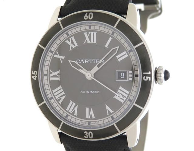 【送料無料】Cartier カルティエ 時計 ロンドクロワジエール WSRN0003 ステンレススチール 革 【205】【中古】【大黒屋】