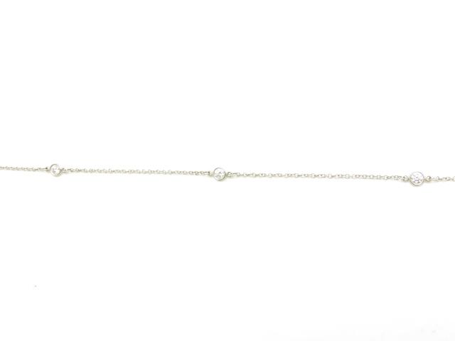 TIFFANY&CO バイザヤード ブレスレット プラチナ ダイヤモンド  PT 3PD 【433】【中古】【大黒屋】