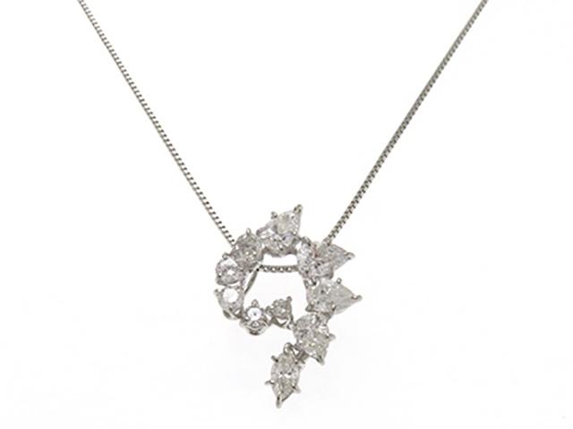 JEWELRY ノンブランドジュエリー ネックレス プラチナ850 ダイヤモンド1.77ct 6.0g【430】【中古】【大黒屋】