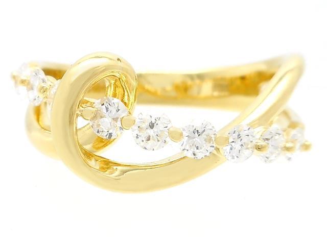 JEWELRY 貴金属・宝石 リング 指輪 ダイヤリング イエローゴールド K18 YG ダイヤ D 0.50ct 4.3g 13号 【472】KR【中古】【大黒屋】