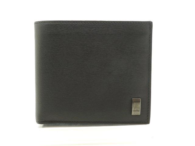 dunhill ダンヒル 二つ折財布 カーフ ブラック 【205】【中古】【大黒屋】