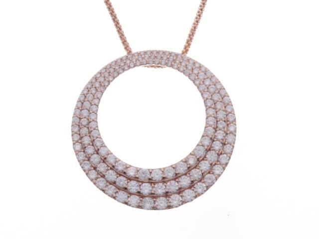 【送料無料】JEWELRY ノンブランドジュエリー ダイヤモンド ネックレス K18PG D3.00 10.5g【434】【中古】【大黒屋】