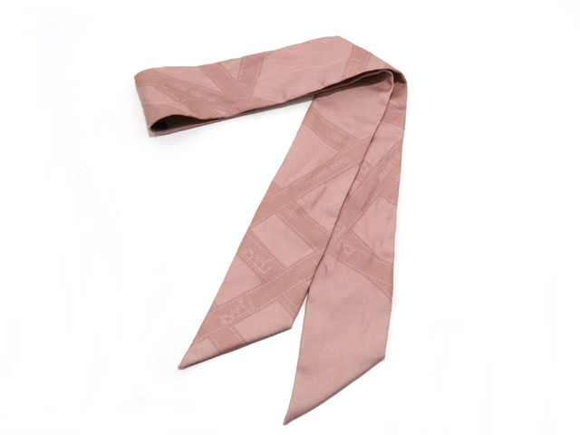 HERMES エルメス 衣料品 トゥイリー スカーフ シルク ピンク 【437】【中古】【大黒屋】