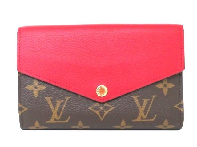 LOUIS VUITTON 二つ折り財布 ポルトフォイユ・パラス コンパクト モノグラム スリーズ M60140【204】【中古】【大黒屋】