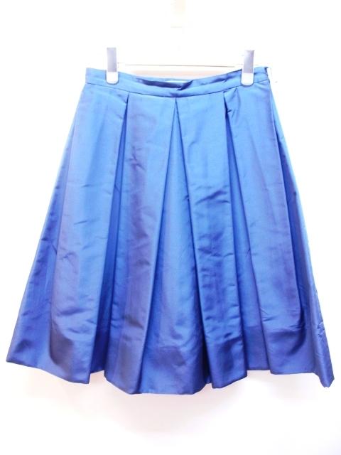 PRADA  プラダ  スカート 36 ブルー シルク 【200】【中古】【大黒屋】